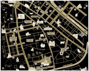 Ausschnitt aus der Karte des Kreativnetzwerks Neukölln (KNNK)