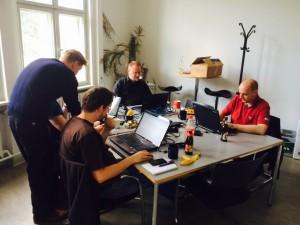 Teilnehmer bei der Arbeit